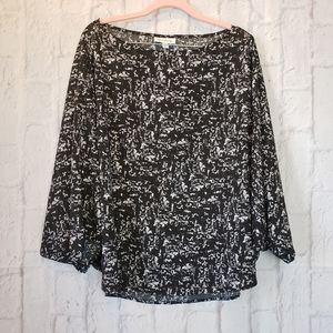 PROLOGUE Black/White Lightweight Blouse